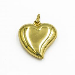 Pre-owned Heart Pendant In 18ct Yellow Gold