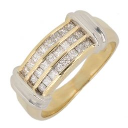 Pre-owned 18ct Gold  Half Eternity Ring - 7g - Size O