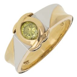 Pre-owned 18ct Gold  Gemstone Ring - Size K