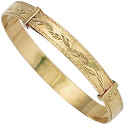 9ct Gold Expandable Baby Bangle