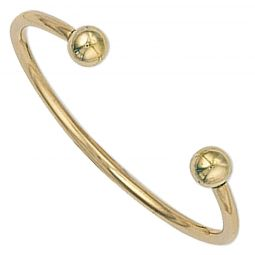 9ct Yellow Gold Torque Baby Bangle 1.9mm