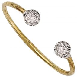 9ct Yellow Gold Torque Baby Bangle 2.0mm.