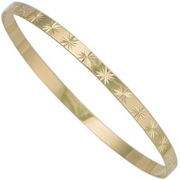9ct Yellow Gold Slave Bangle 4mm