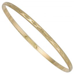 9ct Yellow Gold Slave Bangle 3mm