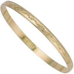 9ct Yellow Gold Slave Bangle 5mm