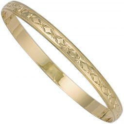 9ct Yellow Gold Slave Bangle 6mm
