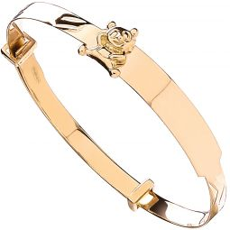 9ct Yellow  Gold Expandable Bangle 5mm