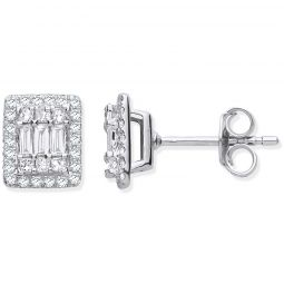 18ct White Gold Studs Set With 0.50cts Diamonds