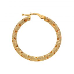 9ct Yellow Gold Hoop Earrings 31.5mm