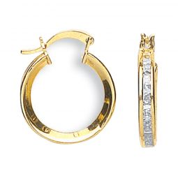 9ct Yellow Gold Hoop Earrings 17.5mm