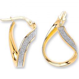 9ct Yellow Gold Earrings 18.5 X 26.6mm