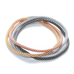 Multi-Colour Expandable Silver Bracelet-7""