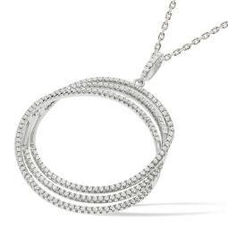Silver Necklace Set With CZs