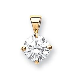 18ct Yellow Gold 0.50ct Claw Set Diamond Pendant