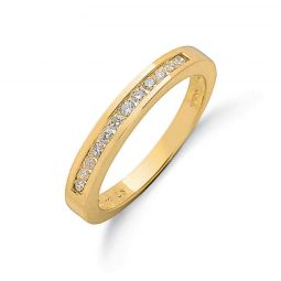9ct Yellow Gold 0.25cts Diamond Half Eternity Ring