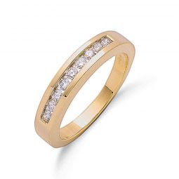 9ct Yellow Gold 0.35cts Diamond Half Eternity Ring 4mm