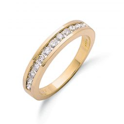 9ct Yellow Gold 0.50cts Diamond Eternity Ring 3.5mm