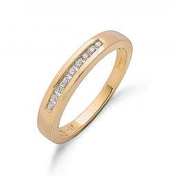 9ct Yellow Gold Diamond Half Eternity Ring 3.5mm
