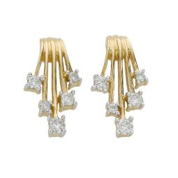 9ct Yellow Gold 0.25ct Diamond Studs Earrings