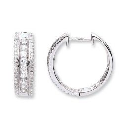 18ct White Gold 0.65ct Diamond Earrings
