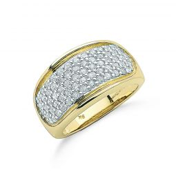 9ct Yellow Gold 1.00cts Diamond Bombay Ring