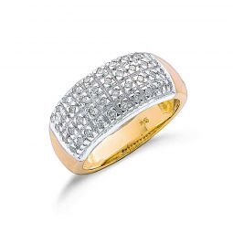9ct Yellow Gold 0.50cts Diamond Bombay Ring