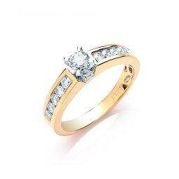18ct Yellow Gold 0.50cts Brilliant Cut Diamond Ring