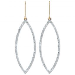 9cts Yellow Gold 0.30cts Diamond Drop Earrings