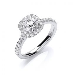 18ct White Gold 1.00cts Certificated Diamond Engagement Ring