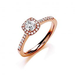 18ct Rose Gold 0.50cts Certificated Diamond Engagement Ring