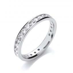 18ct white gold Full Eternity Diamond Ring 1.00cts
