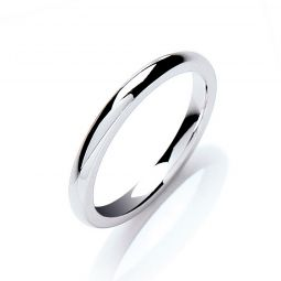 2mm Court Shape Wedding Band