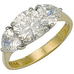 9ct Yellow Gold Fancy Cz Ring