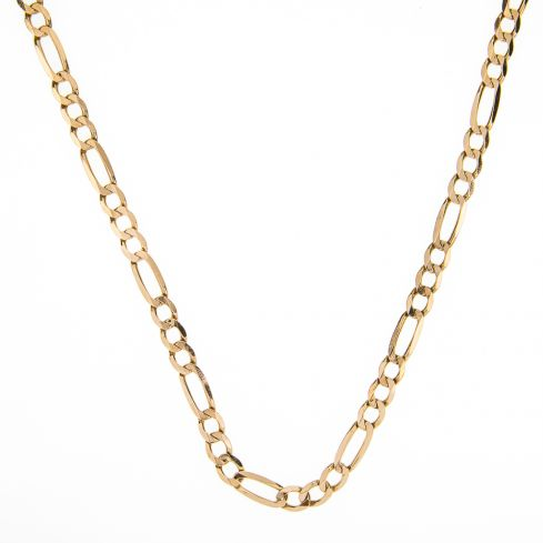 Pre-owned 9ct Gold Solid Figaro Chain - 20 inches- 27g