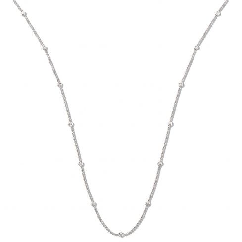 18ct White Gold and 0.50cts Diamond Chain