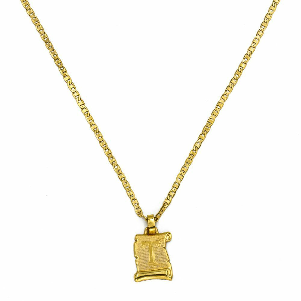 Pre-owned 18ct Gold Chain With Letter