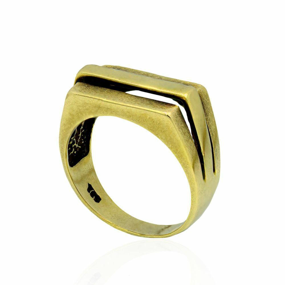 Pre-owned 14ct Yellow Gold Gents Ring