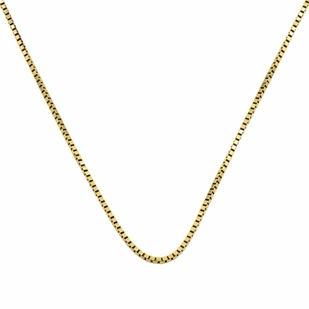 Pre-owned 18ct Gold Box Chain - 15 inches Gold