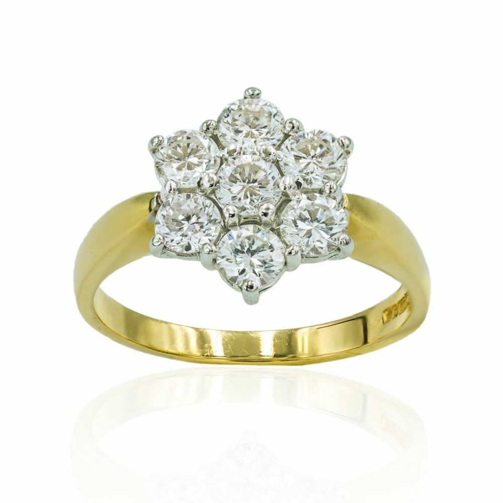Pre-owned Diamond Cluster Ring 18ct Gold