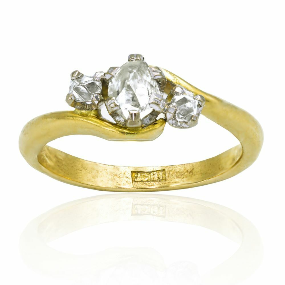 Rough Diamonds And 18ct Gold Ring