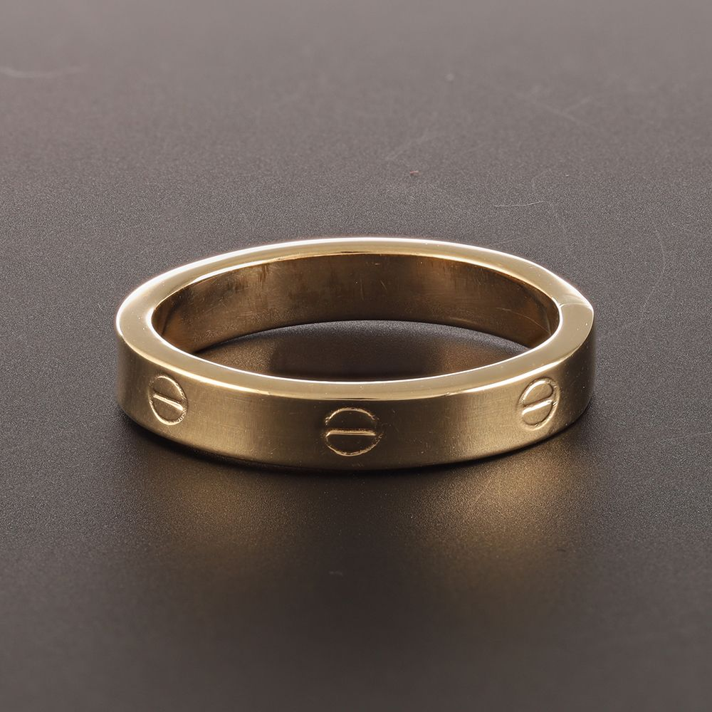 Pre-Owned 18ct Yellow Gold Band Screw Ring  - 1.6g Gold
