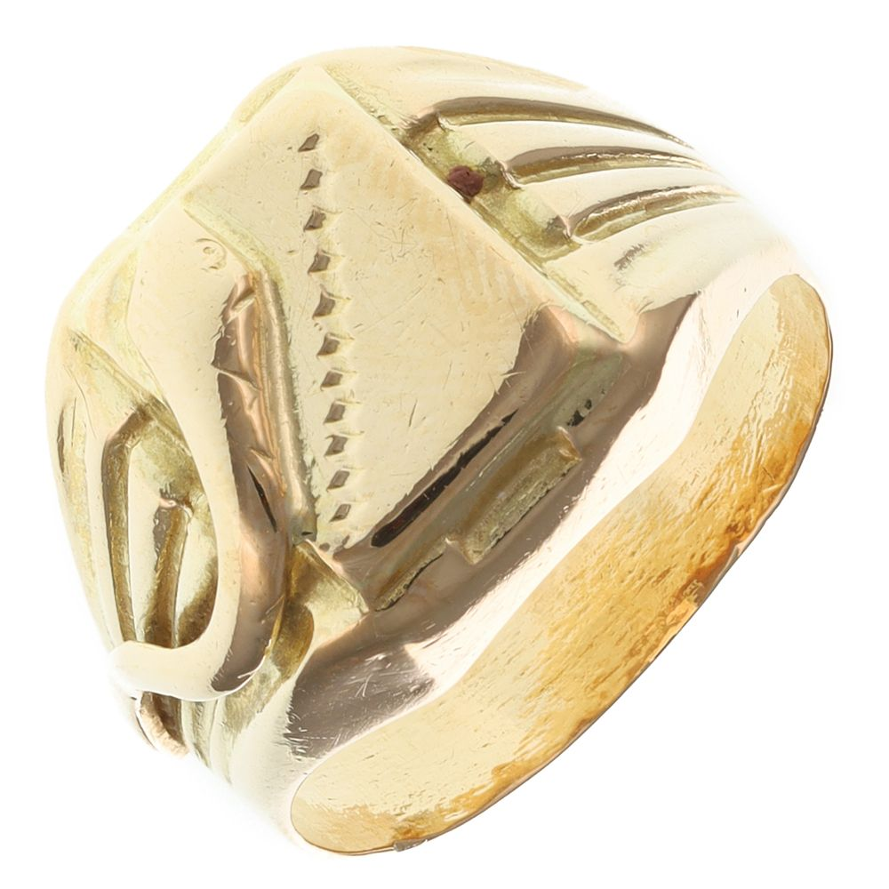 Pre-Owned 18ct Yellow Gold Signet Ring - 8g  Gold