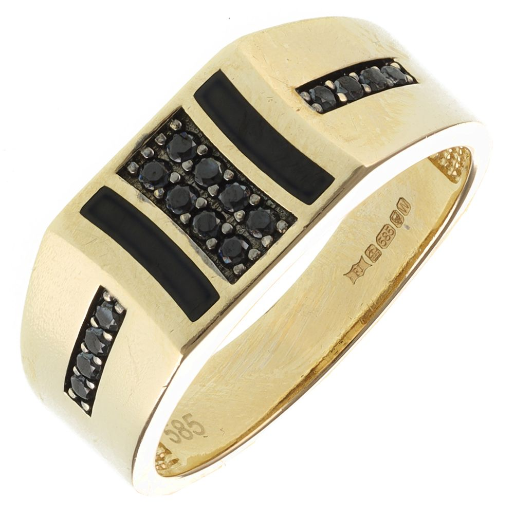 Pre-Owned 14ct Yellow Gold Signet Ring - 6g  Onyx Gold
