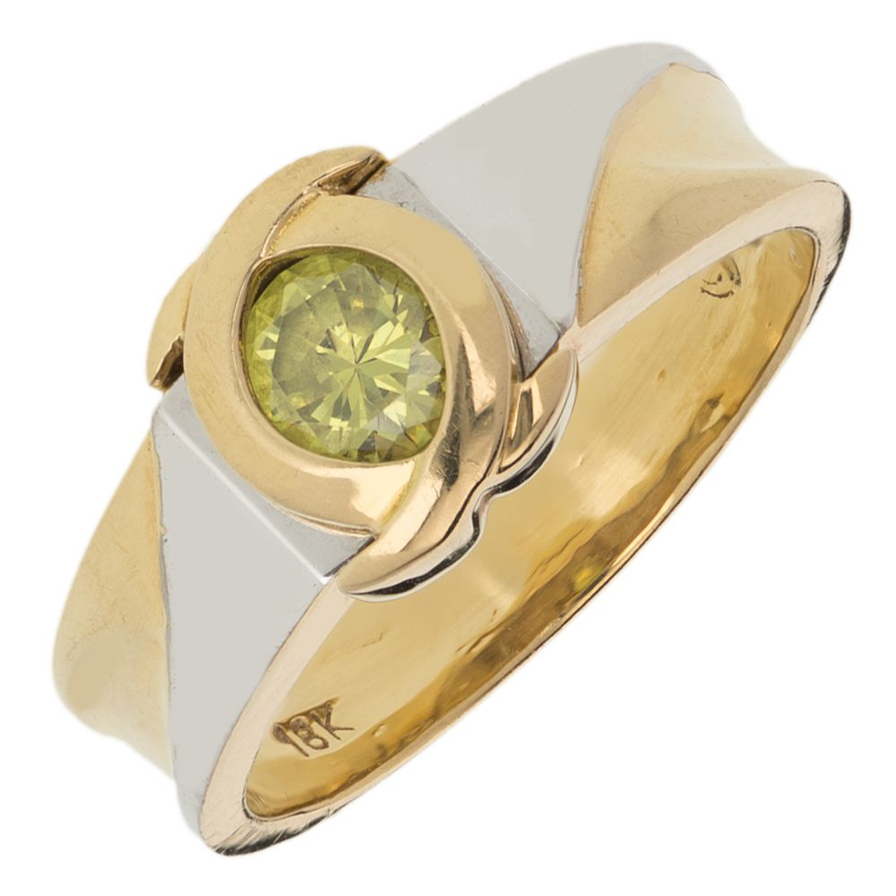 Pre-owned 18ct Gold  Gemstone Ring - Size K Peridot Gold