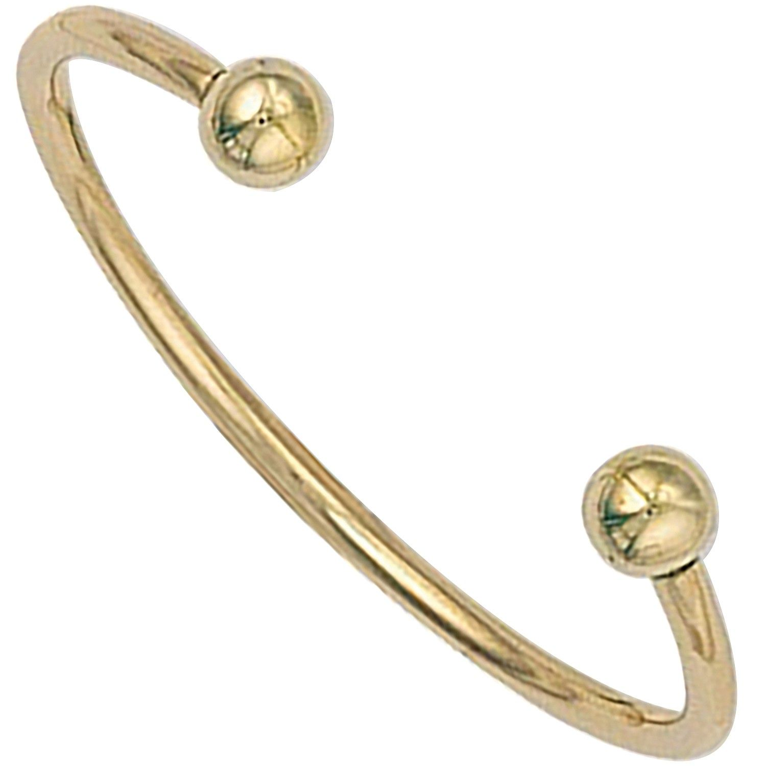 9ct Yellow Gold Torque Baby Bangle 2.3mm Gold