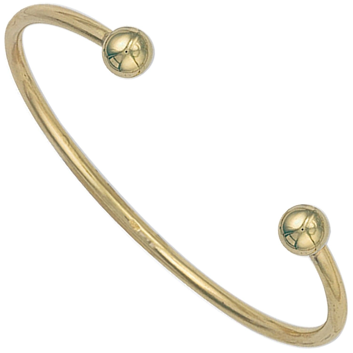 9ct Yellow Gold Torque Bangle 2.5mm Gold