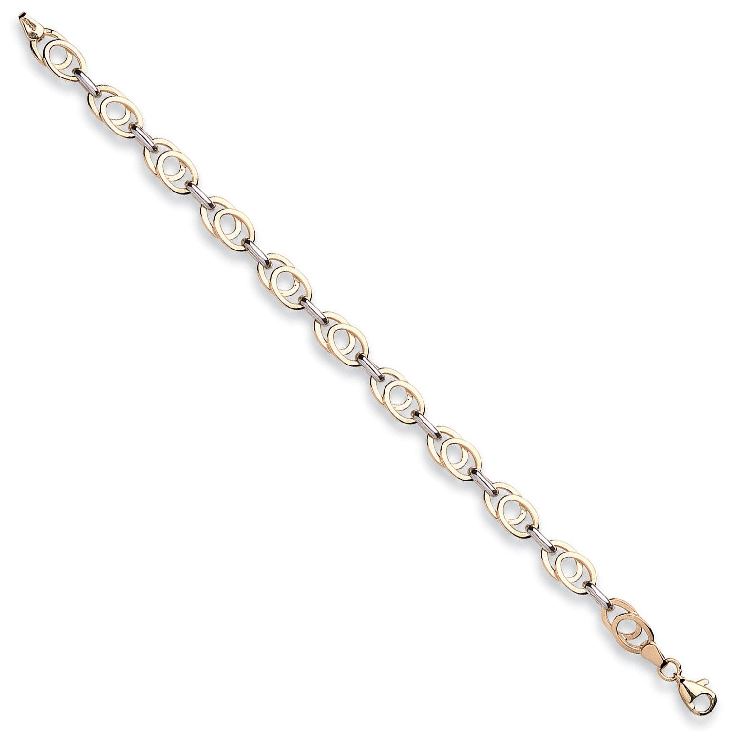 9ct Yellow And White Gold Fancy Bracelet