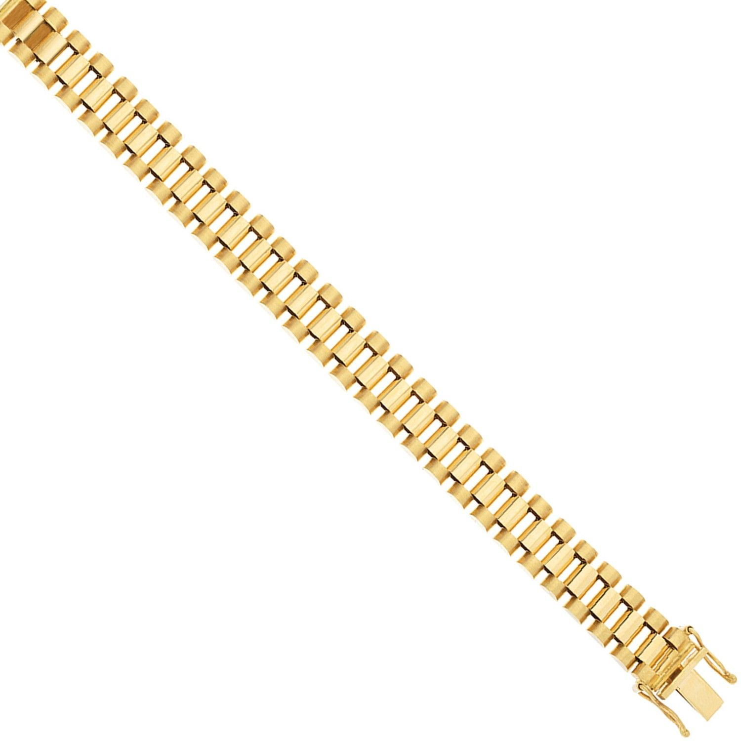 9ct Yellow Gold Rolex Inspired Bracelet