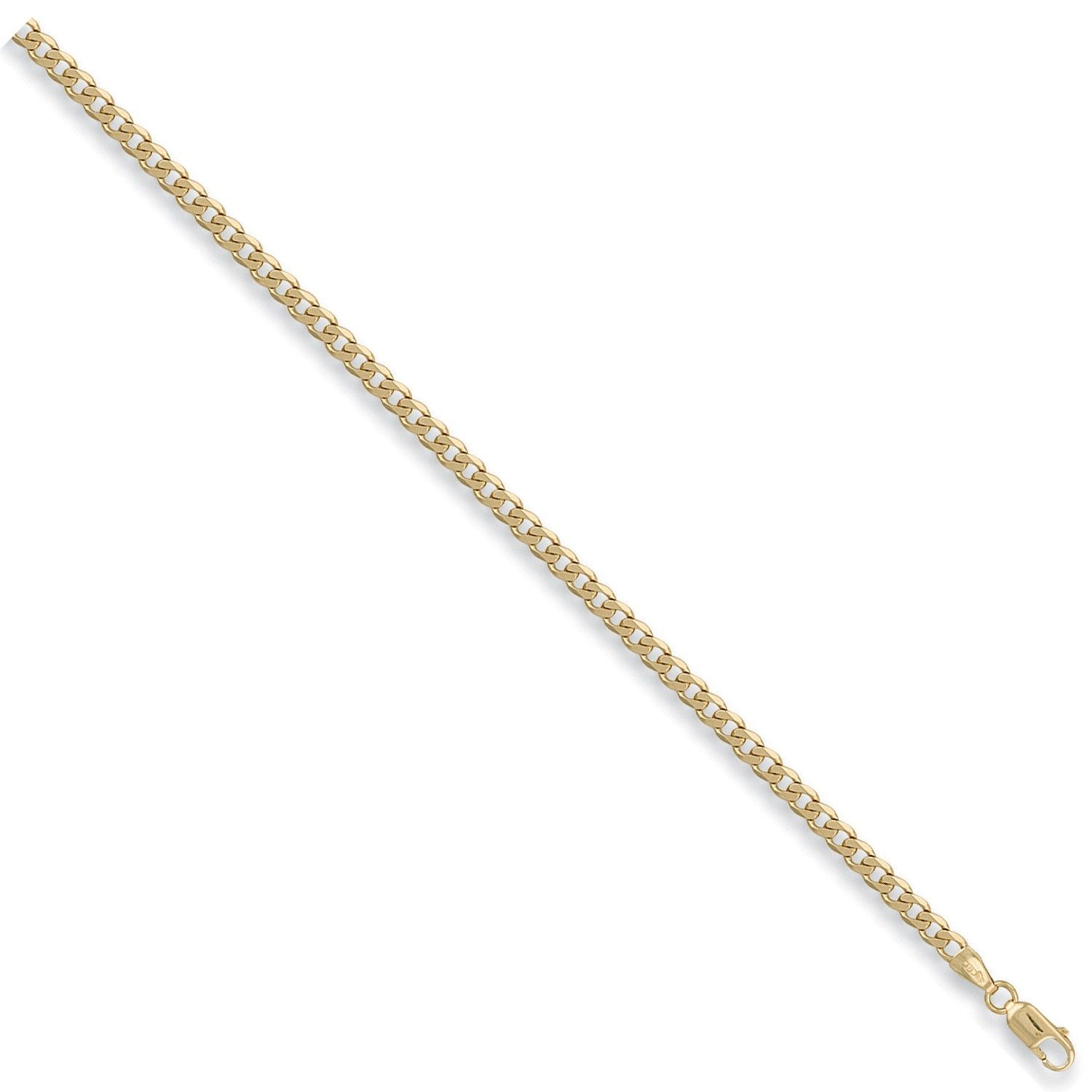 9ct Yellow Gold 4mm Curb Chain