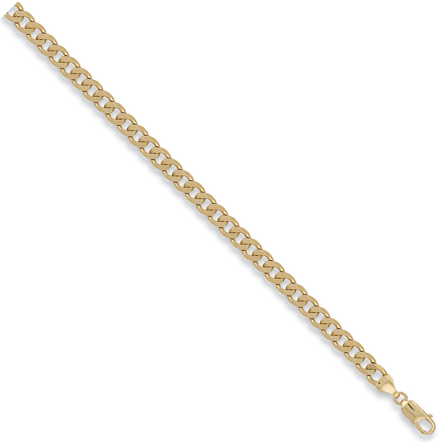 9ct Yellow Gold 6.5mm Curb Chain